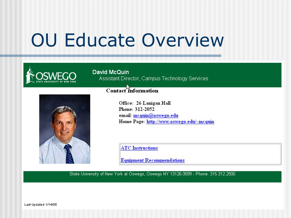 OU Educate Overview