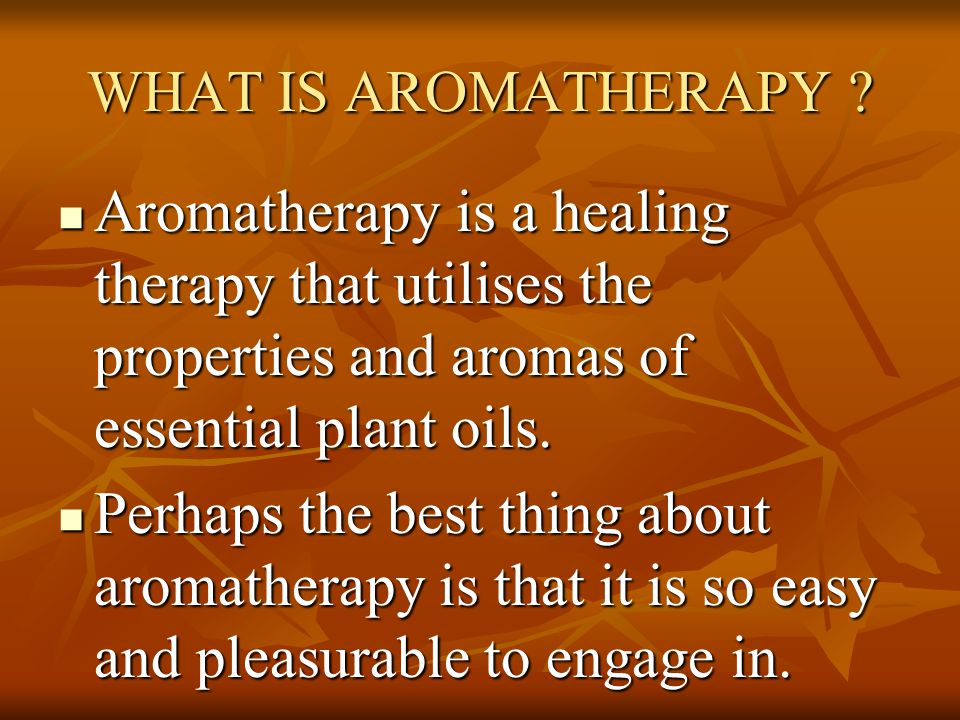 Relaxation with Aromatherapy & Music