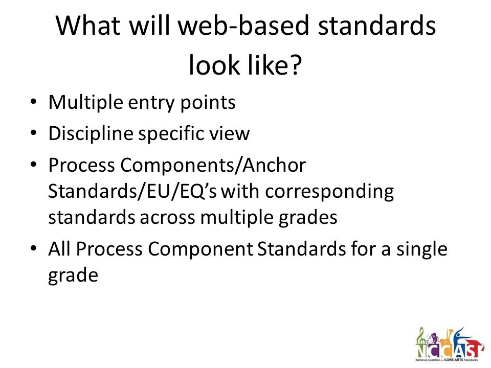 What will web-based standards look like.