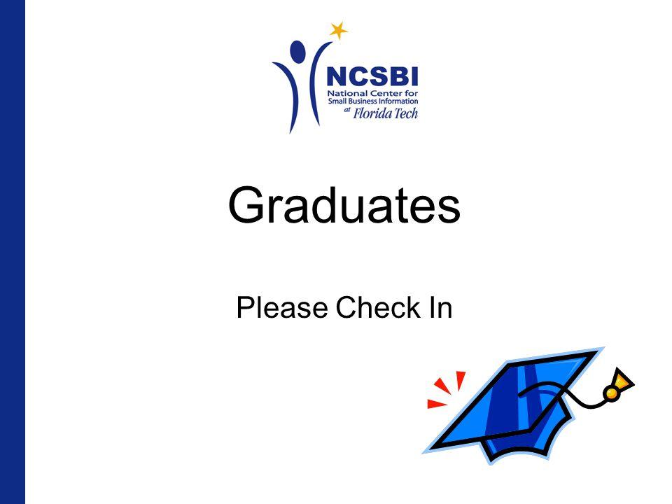Graduates Please Check In
