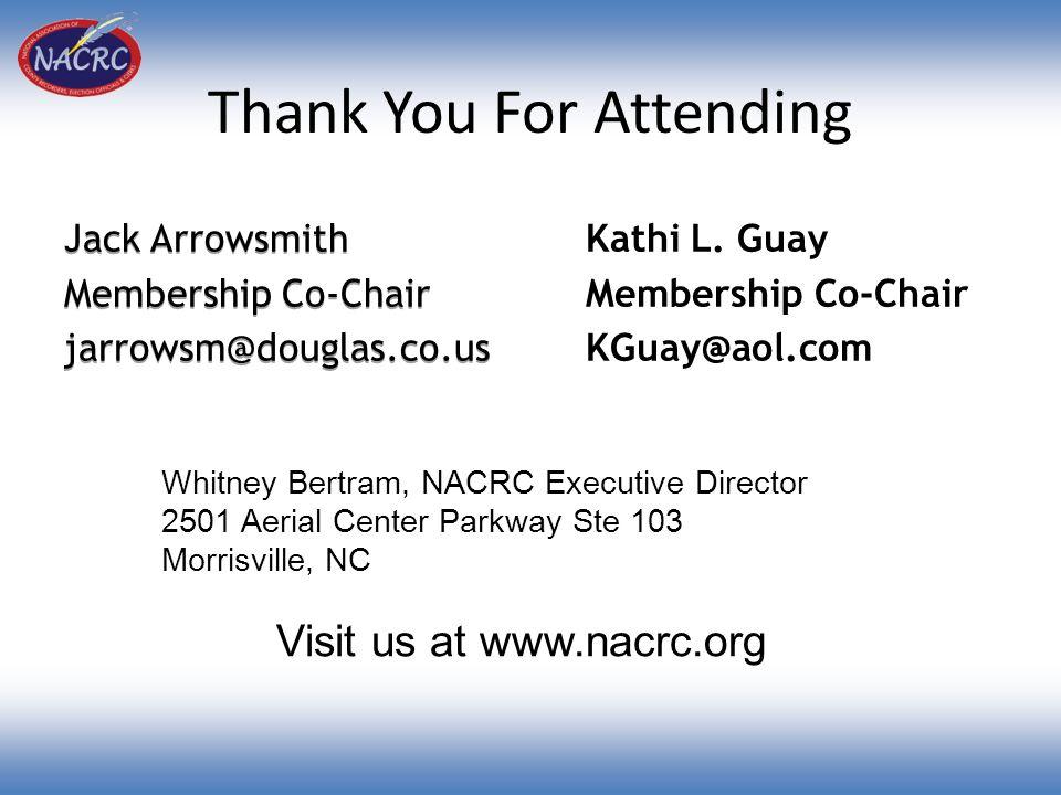 Thank You For Attending Jack Arrowsmith Membership Co-Chair jarrowsm@douglas.co.us Jack Arrowsmith Membership Co-Chair jarrowsm@douglas.co.us Kathi L.