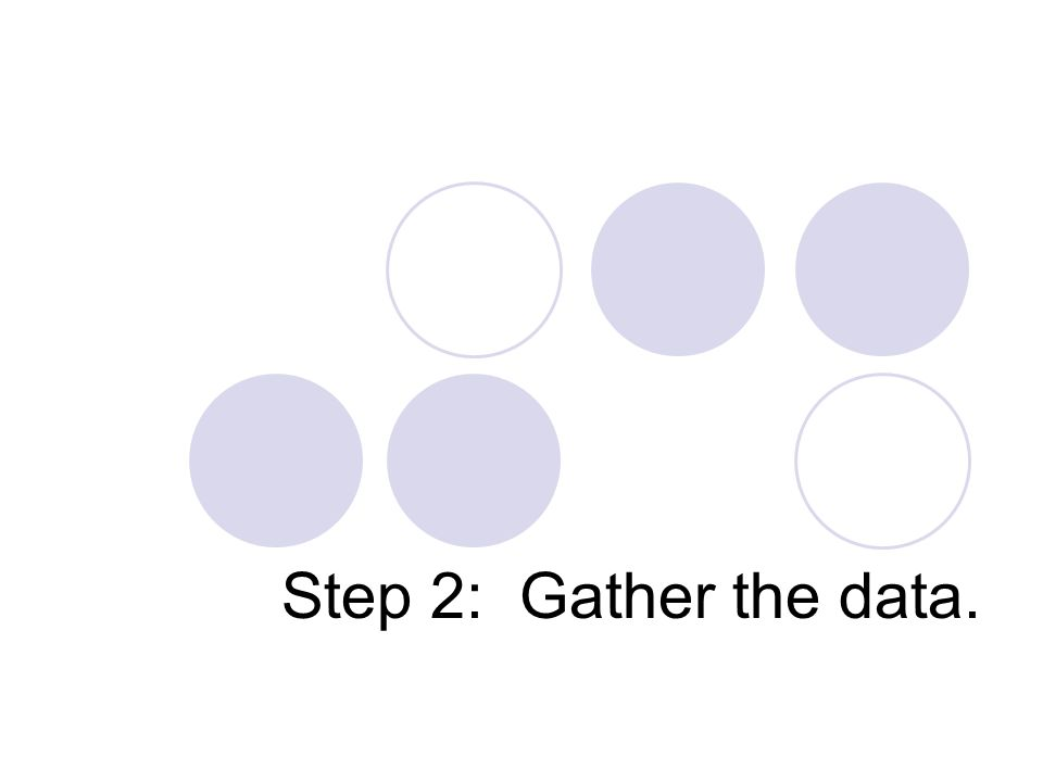 Step 2: Gather the data.