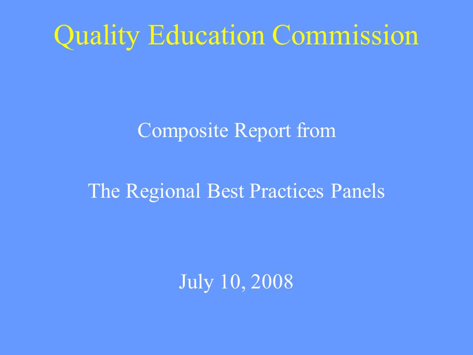 Approach to Project Looked at best practices research literature Previous Reports: Conducted focus groups with Oregon educators Consulted with national experts and work in other states
