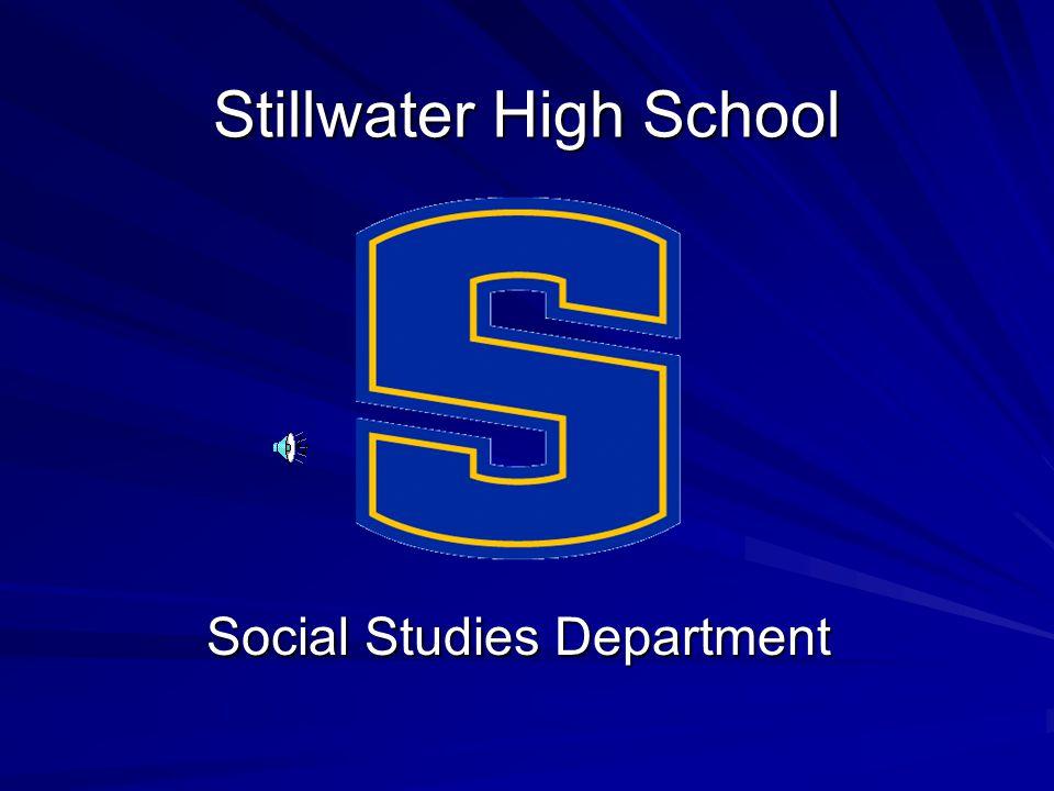 Stillwater High School Social Studies Department