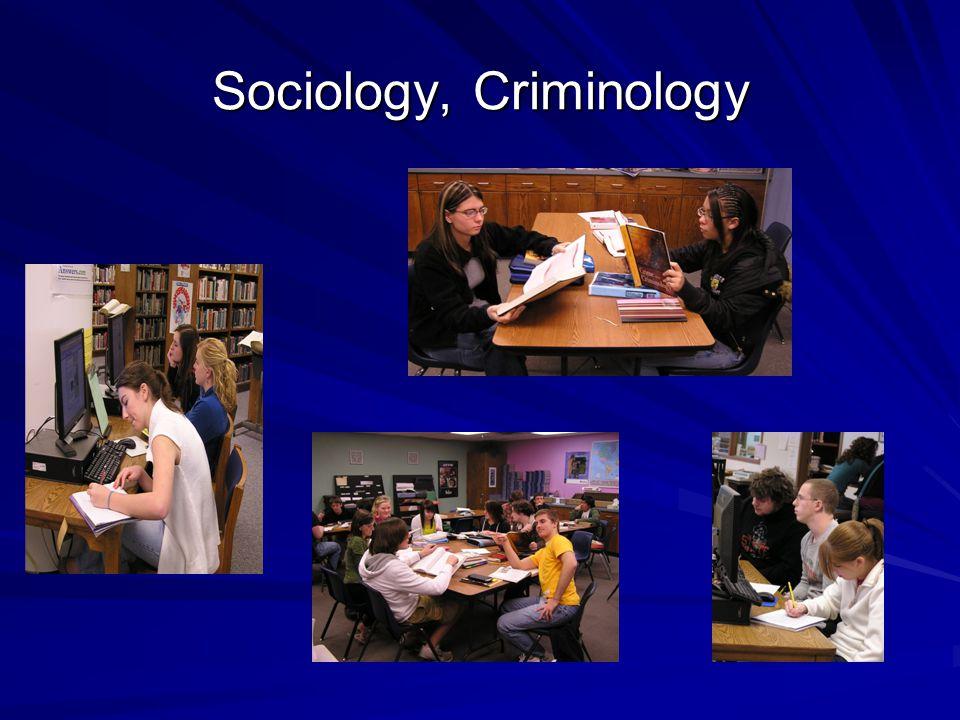 Sociology, Criminology