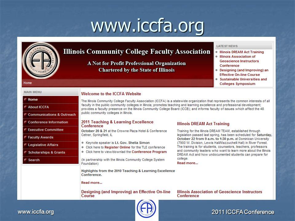 www.iccfa.org 2011 ICCFA Conference www.iccfa.org