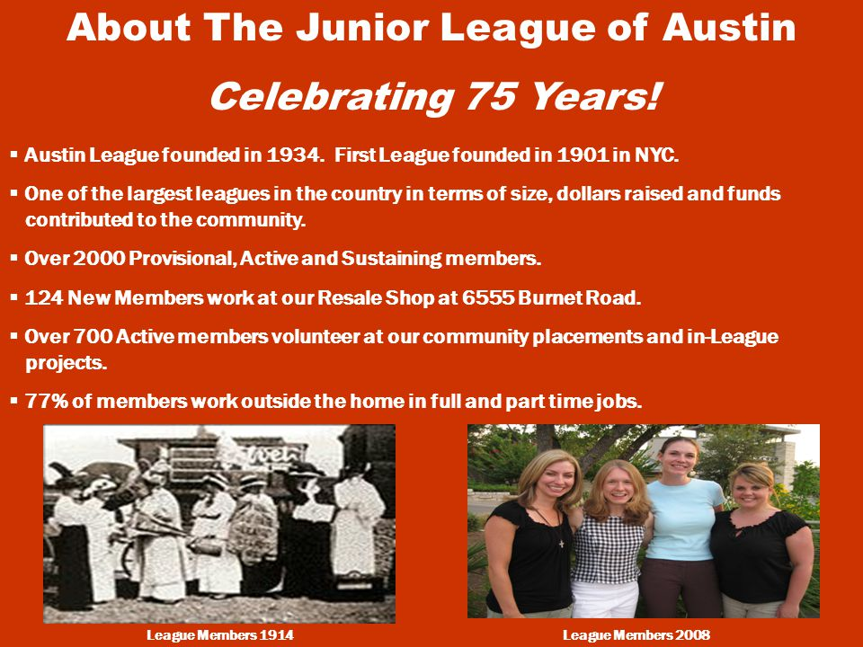About The Junior League of Austin Celebrating 75 Years.