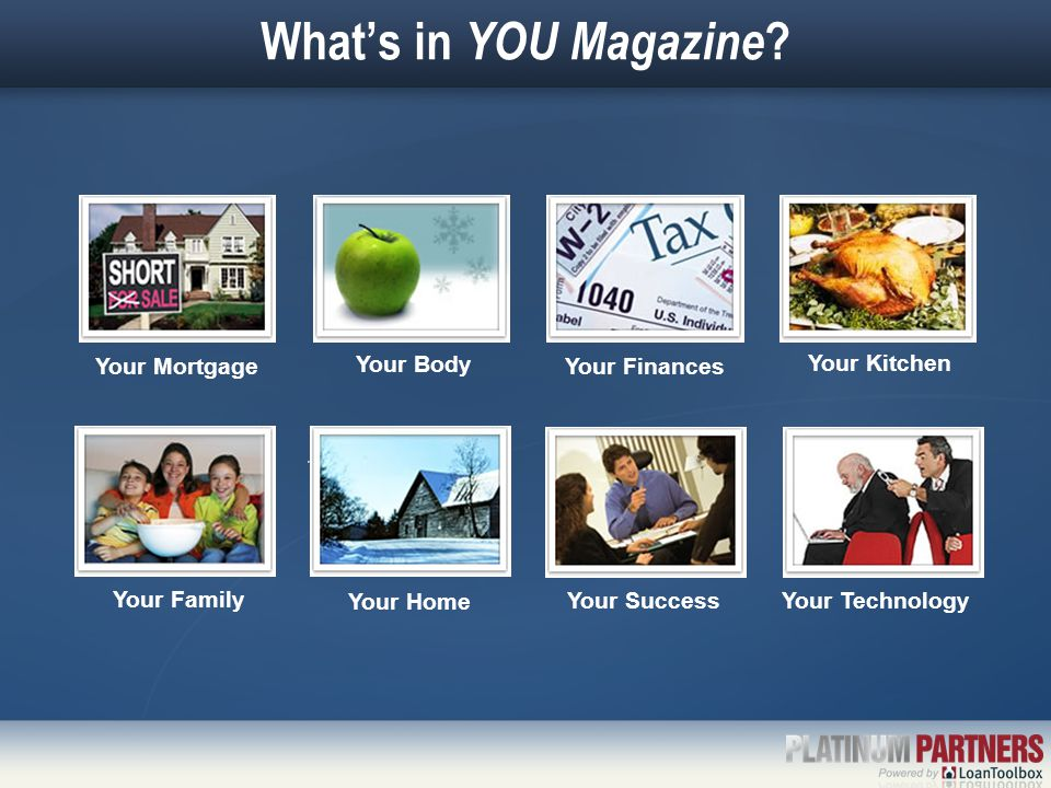 What's in YOU Magazine .