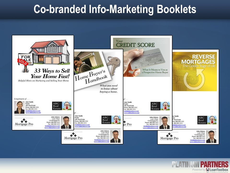 Co-branded Info-Marketing Booklets