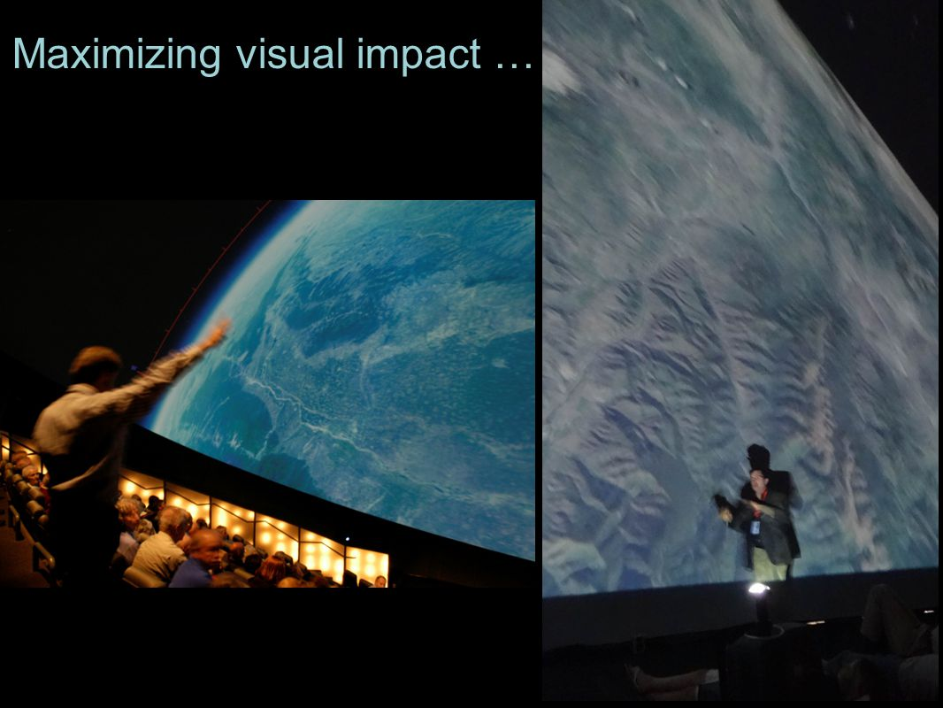 Maximizing visual impact …
