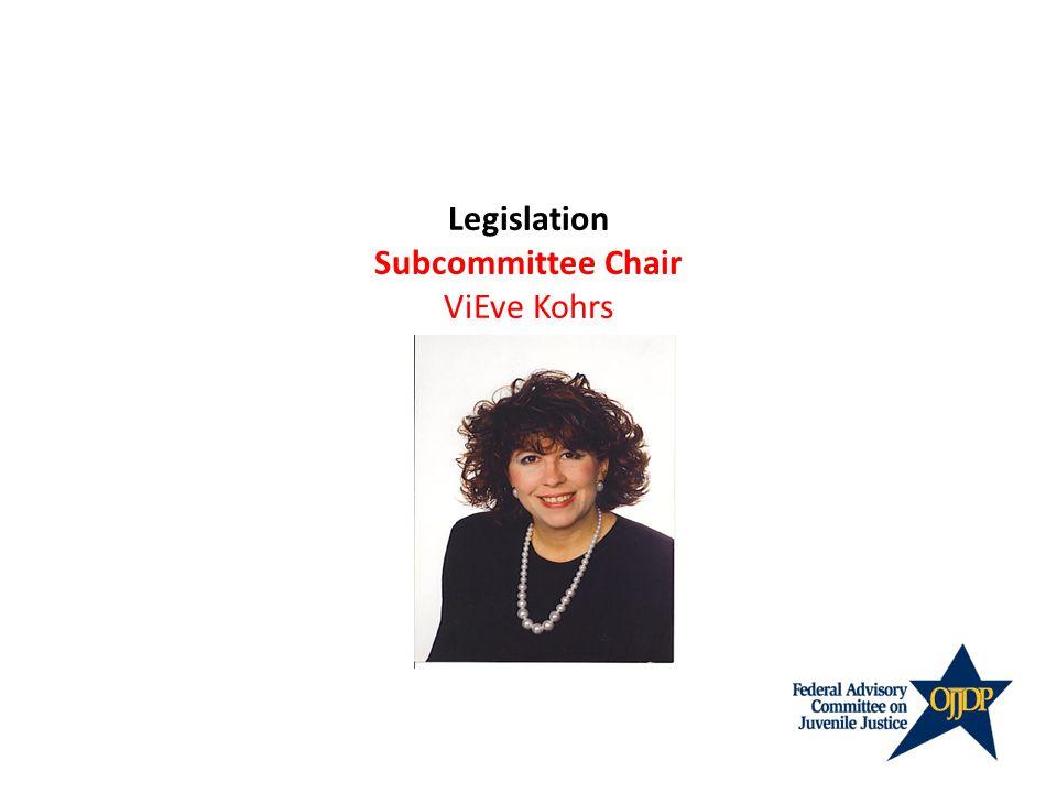 Legislation Subcommittee Chair ViEve Kohrs