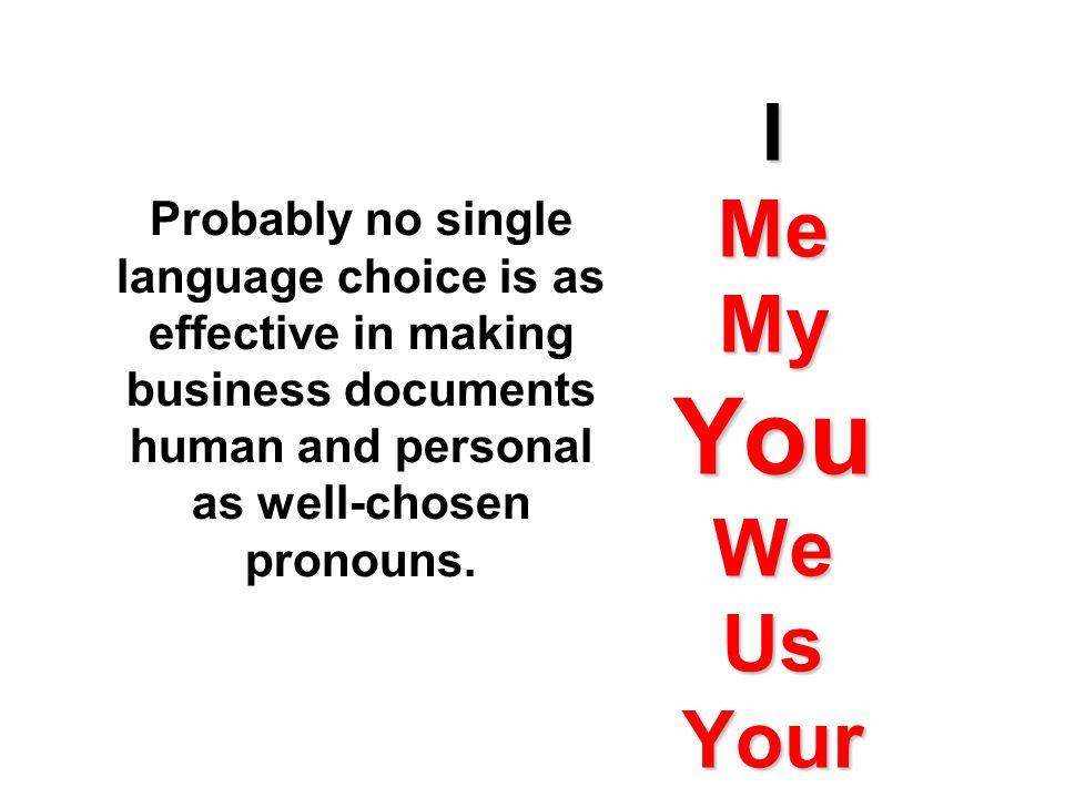 Friendly, Conversational Sentence Structure