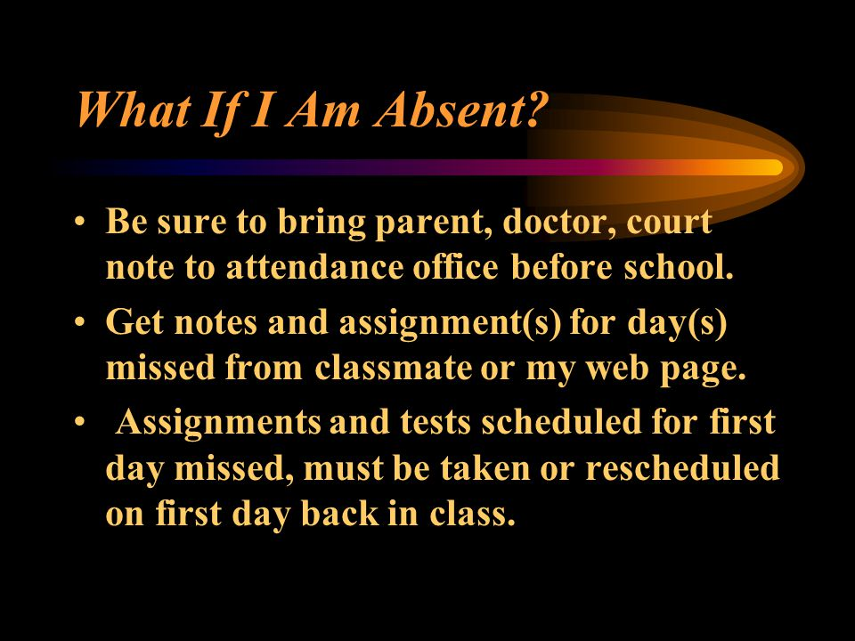 What If I Am Absent.