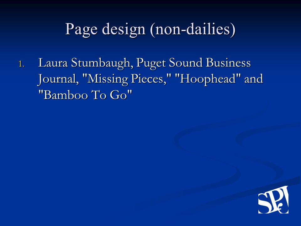 Page design (non-dailies) 1.