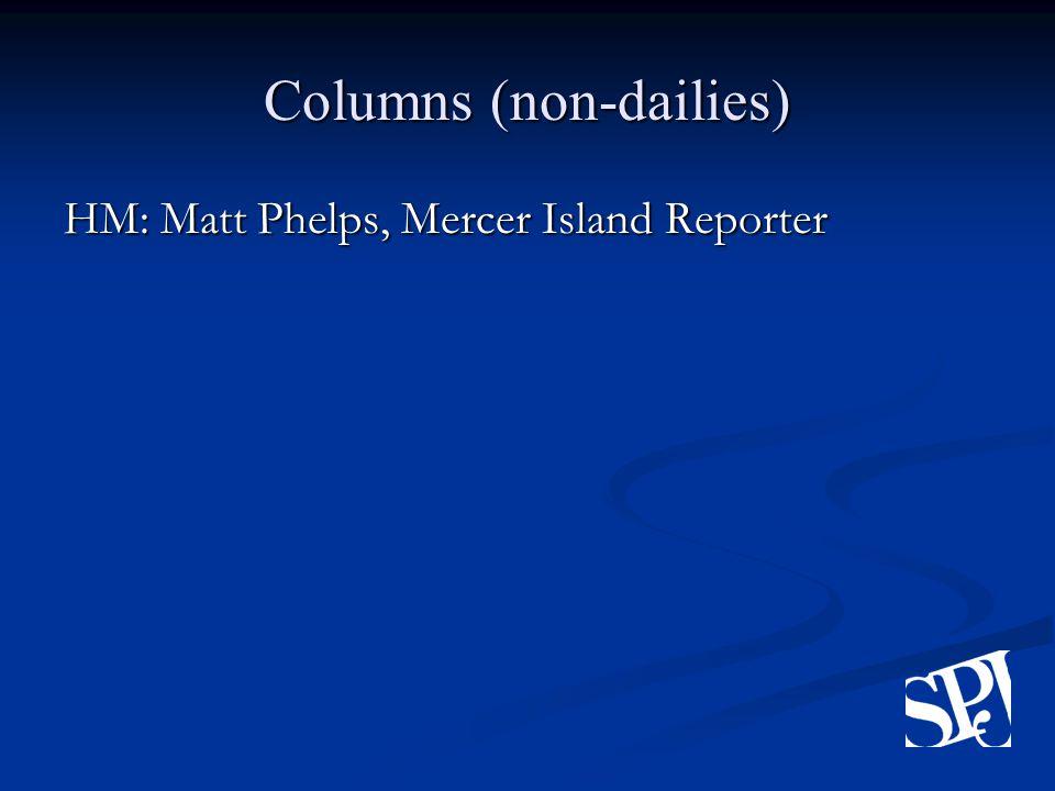 Columns (non-dailies) HM: Matt Phelps, Mercer Island Reporter