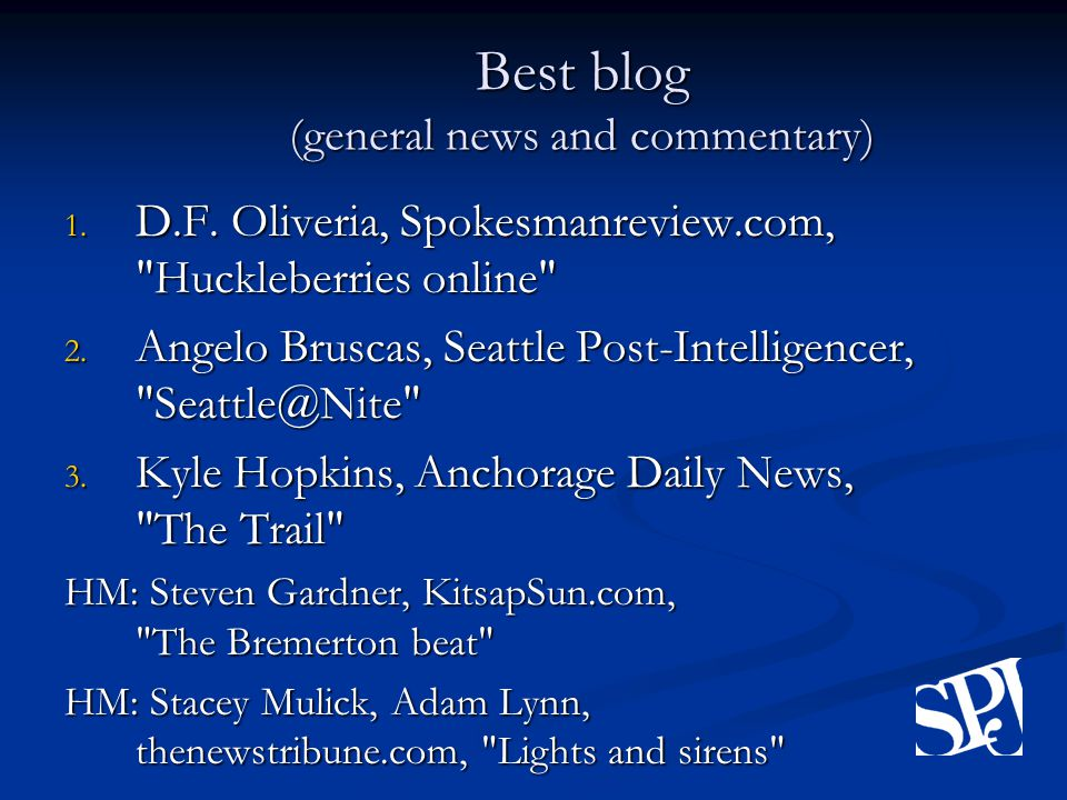 Best blog (general news and commentary) 1. D.F.