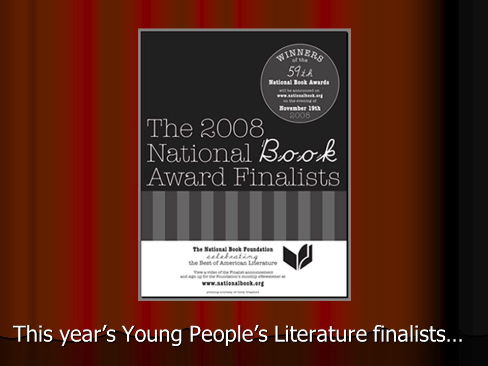 The National Book Awards were started in 1950 and are presented each year to American authors for books published in the prior year. Awards are given