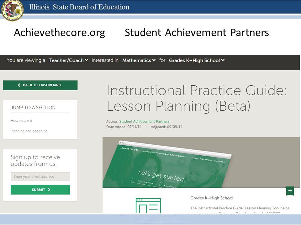 Achievethecore.org Student Achievement Partners
