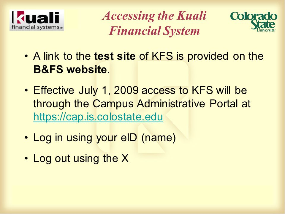 Cost Sharing, Cont'd How it looks in KFS