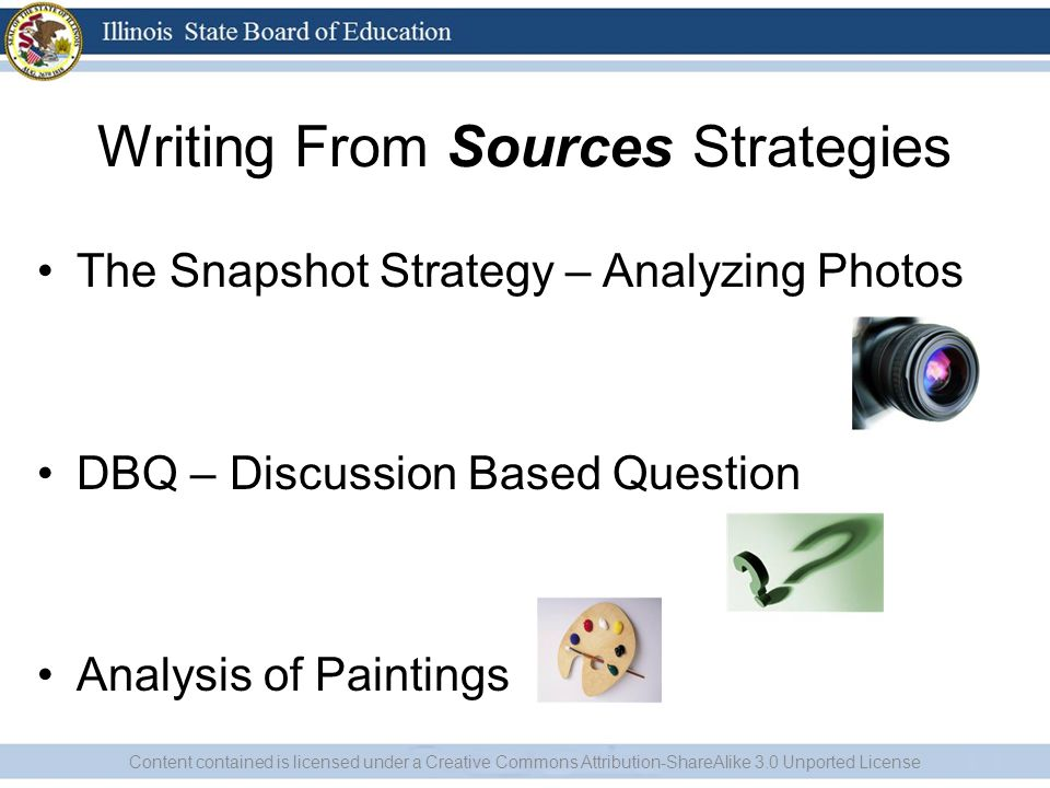 Snap Shot Snap Shot is used to encourage students to analyze one portion of a visual document at a time before assessing the document as a whole –Have the visual (photo, painting, cartoon) covered on a PowerPoint slide.