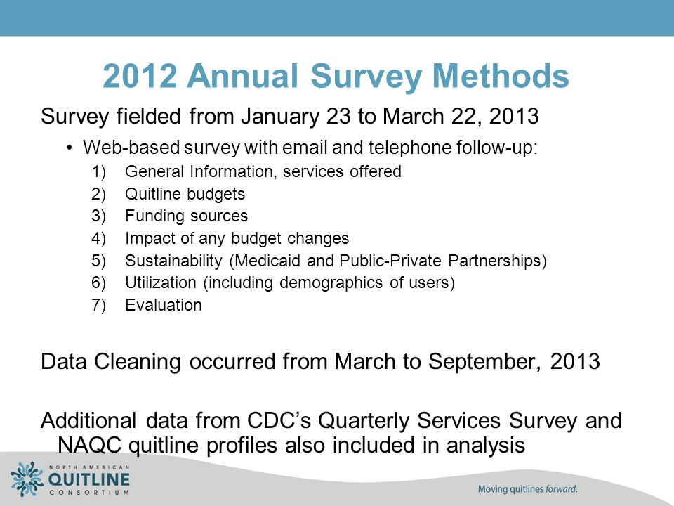 Few Quitlines Report Funding from Cost-sharing Sources in FY2012 Budget SourceNumber of US Quitlines Reporting Receiving Funds Number of Canadian Quitlines Reporting Receiving Funds State Medicaid funds1NA Federal financial participation (FFP) for quitline administrative expenditures for Medicaid beneficiaries 4NA Third party reimbursement through an employer or employer group 30 Third party reimbursement through insurance company or health plan 20 Other20