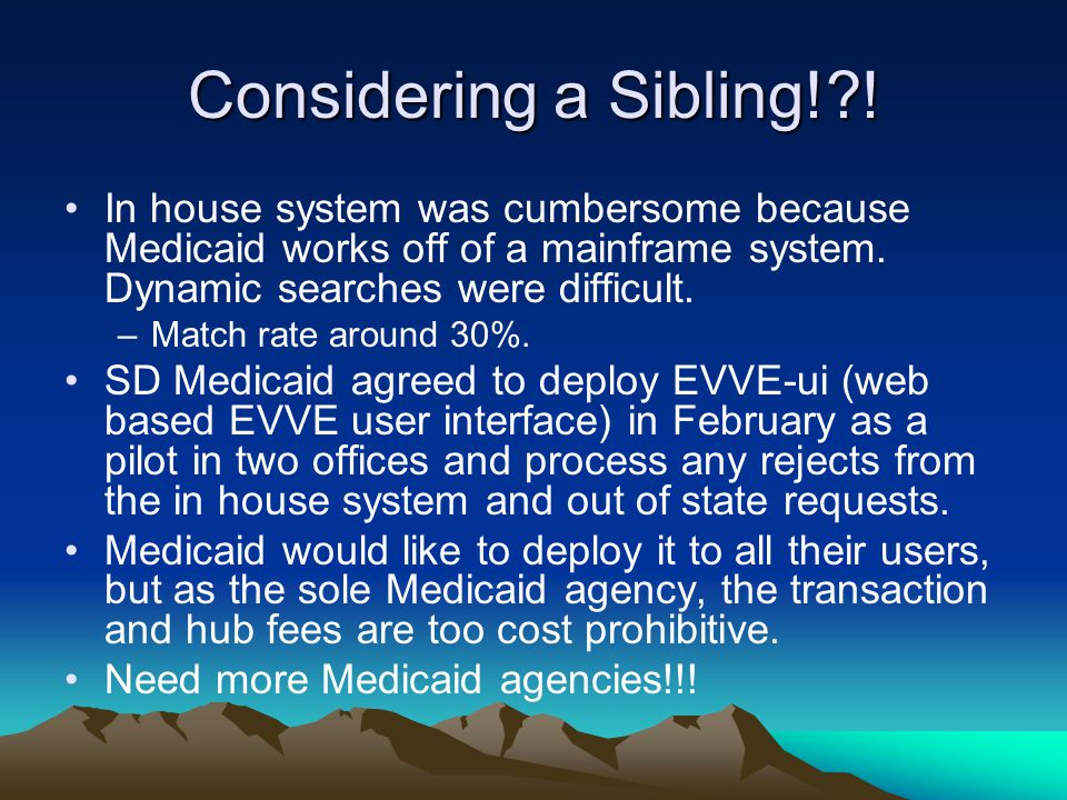 Considering a Sibling! .