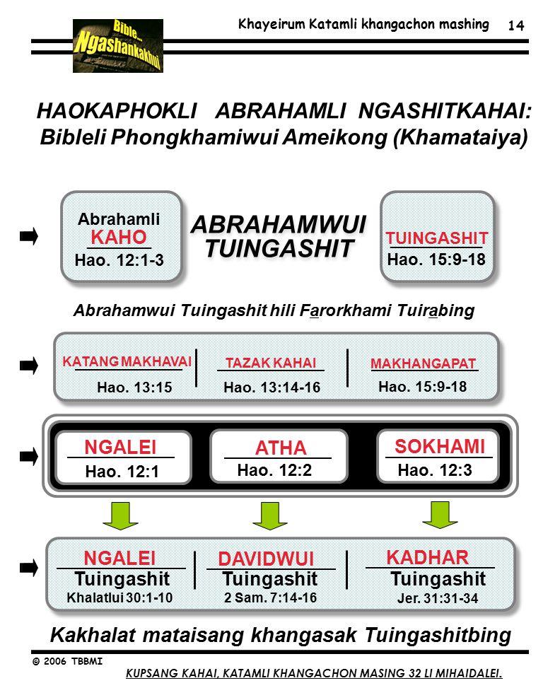 Khayeirum Katamli khangachon mashing © 2006 TBBMI 14 HAOKAPHOKLI ABRAHAMLI NGASHITKAHAI: Bibleli Phongkhamiwui Ameikong (Khamataiya) ABRAHAMWUI TUINGASHIT Abrahamli _______ Hao.