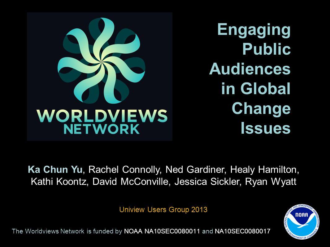 Engaging Public Audiences in Global Change Issues Ka Chun Yu, Rachel Connolly, Ned Gardiner, Healy Hamilton, Kathi Koontz, David McConville, Jessica S