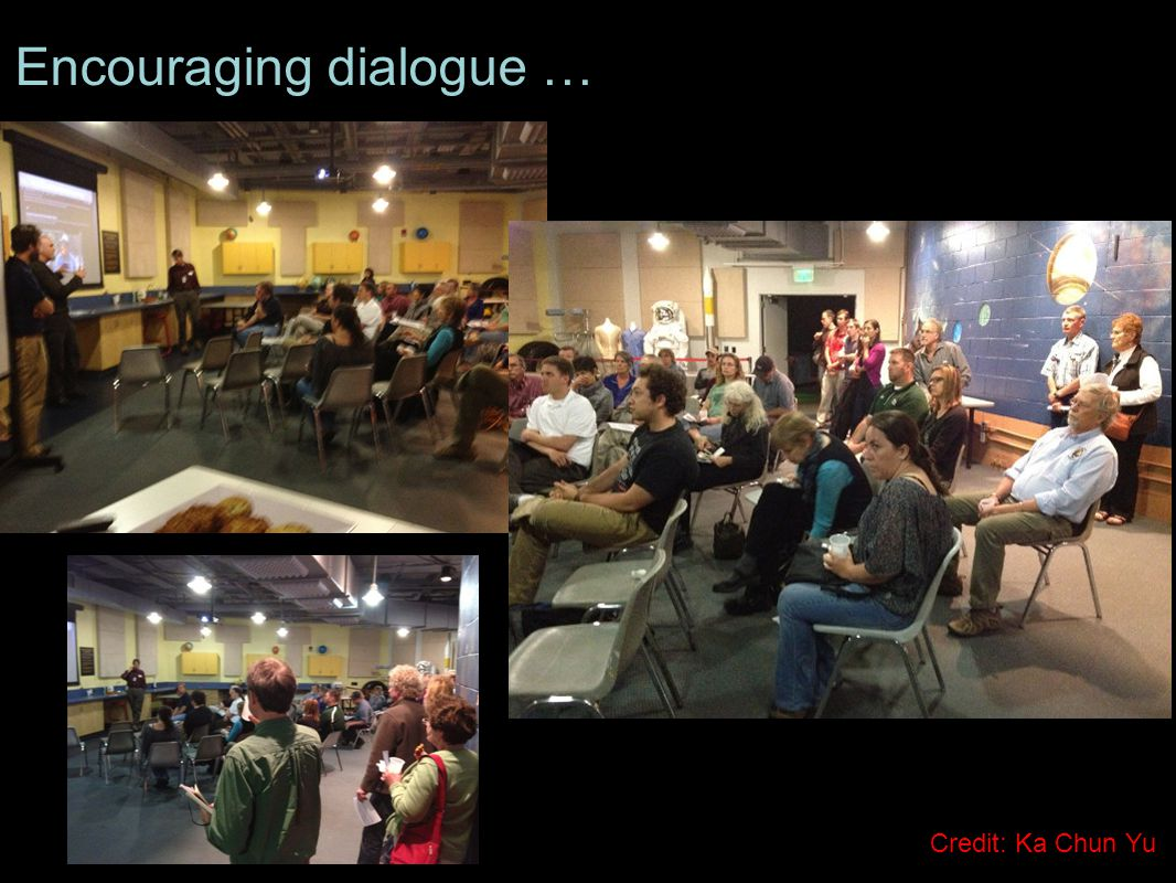 Encouraging dialogue … Credit: Ka Chun Yu