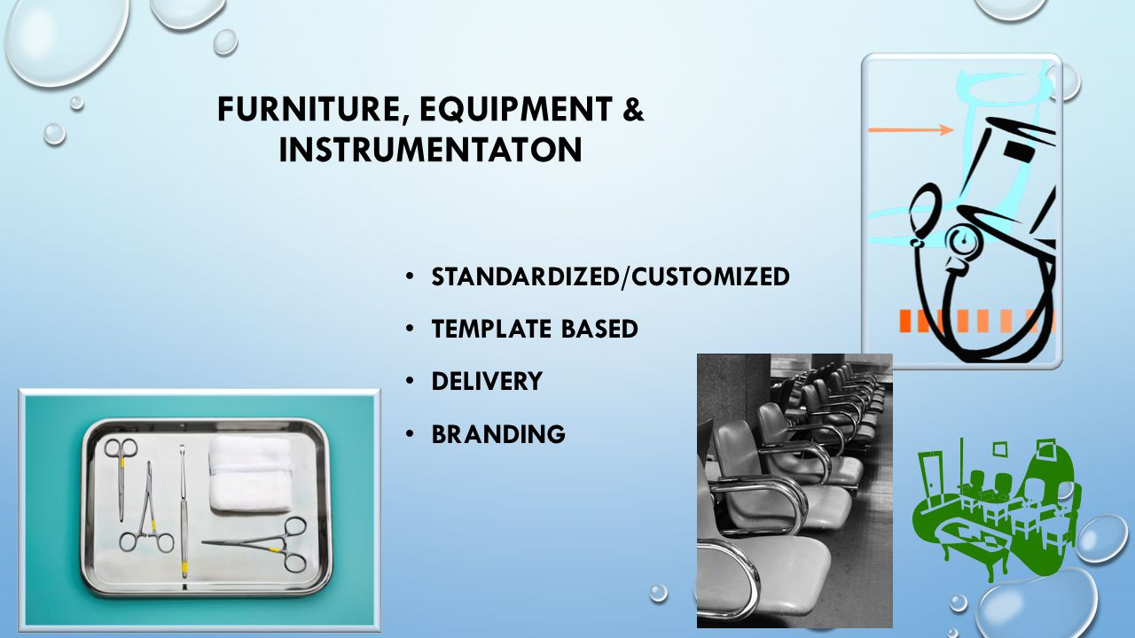 FURNITURE, EQUIPMENT & INSTRUMENTATON STANDARDIZED/CUSTOMIZED TEMPLATE BASED DELIVERY BRANDING