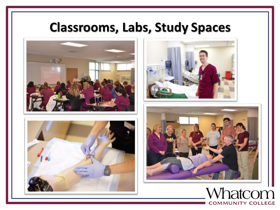 Classrooms, Labs, Study Spaces