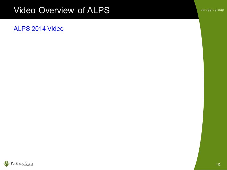 Video Overview of ALPS ALPS 2014 Video | 12