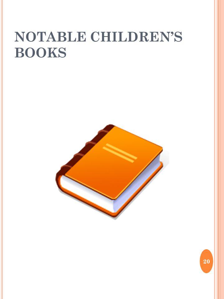 NOTABLE CHILDREN'S BOOKS 20