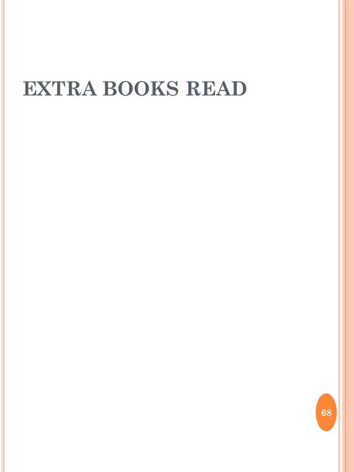 EXTRA BOOKS READ 68