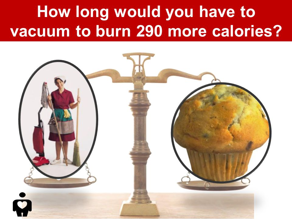 How long would you have to vacuum to burn 290 more calories