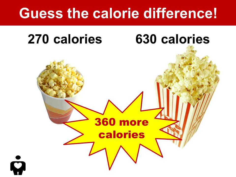 Guess the calorie difference! 270 calories630 calories 360 more calories