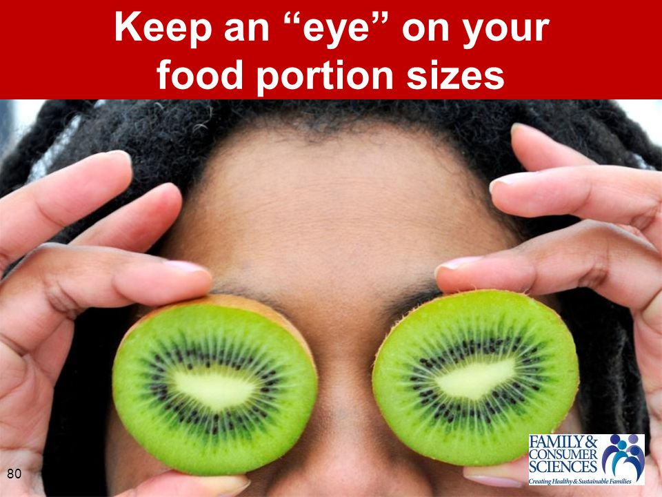 Keep an eye on your food portion sizes 80
