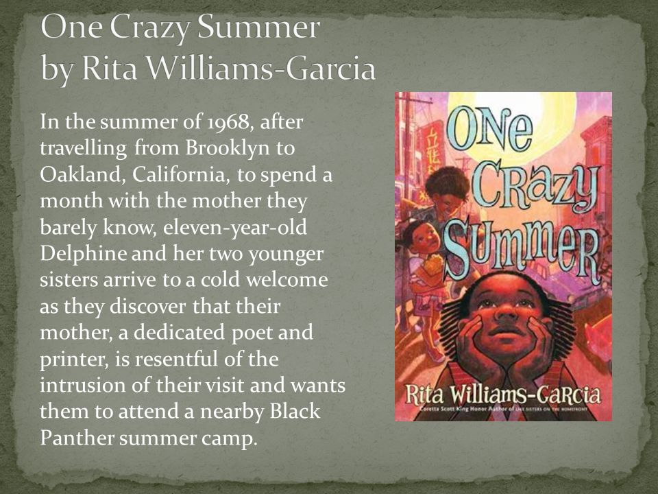 In the summer of 1968, after travelling from Brooklyn to Oakland, California, to spend a month with the mother they barely know, eleven-year-old Delphine and her two younger sisters arrive to a cold welcome as they discover that their mother, a dedicated poet and printer, is resentful of the intrusion of their visit and wants them to attend a nearby Black Panther summer camp.