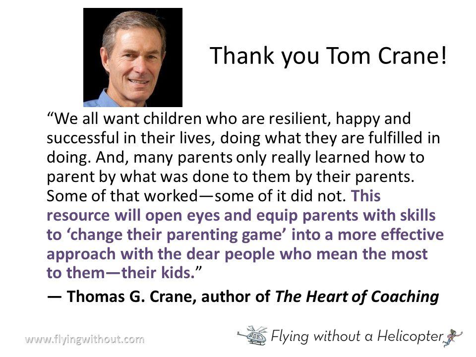 Thank you Tom Crane.