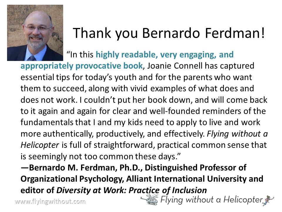 Thank you Bernardo Ferdman.