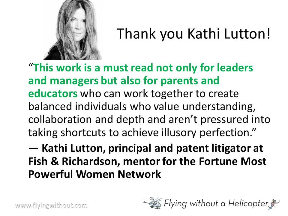 Thank you Kathi Lutton.