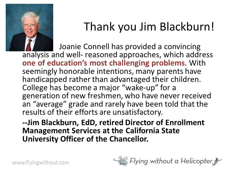 Thank you Jim Blackburn.
