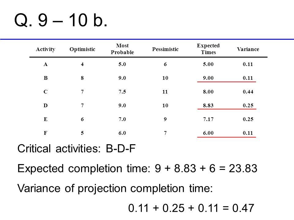 Q.9 – 10 b.