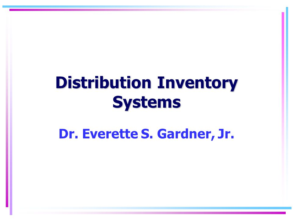 Inventory32 Units or dollars backordered as a service measure (cont.) Example: Annual demand = 1000 units Order quantity = 50 units X = 25 units σ = 5 Z = 1.2 From table, E(Z) =.05610 Reorder point = 25 + 5 (1.2) = 31 Units short per cycle =.05610 (5) =.2805 Annual order cycles = 1000/50 = 20 Units short per year = 20 (.2805) = 5.61