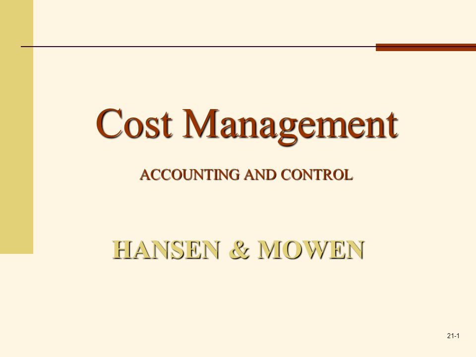 21-2 Inventory Management: Economic Order Quantity, JIT, and the Theory of Constraints 21