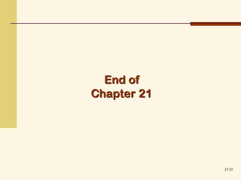 21-33 End of Chapter 21