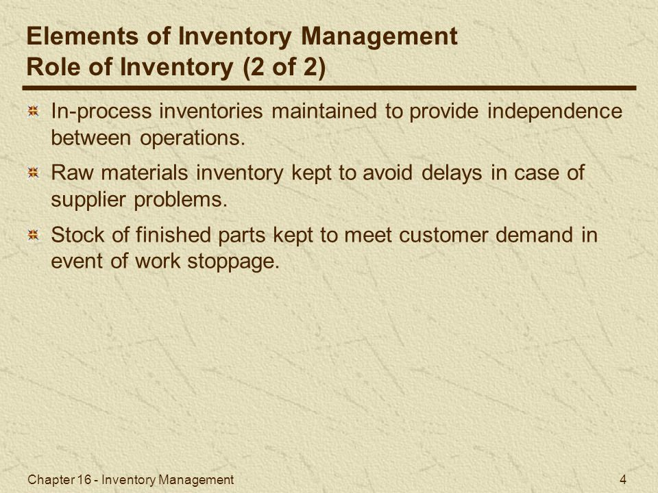 Chapter 16 - Inventory Management 45 University Bookstore example, but a different optimal order size for each price discount.