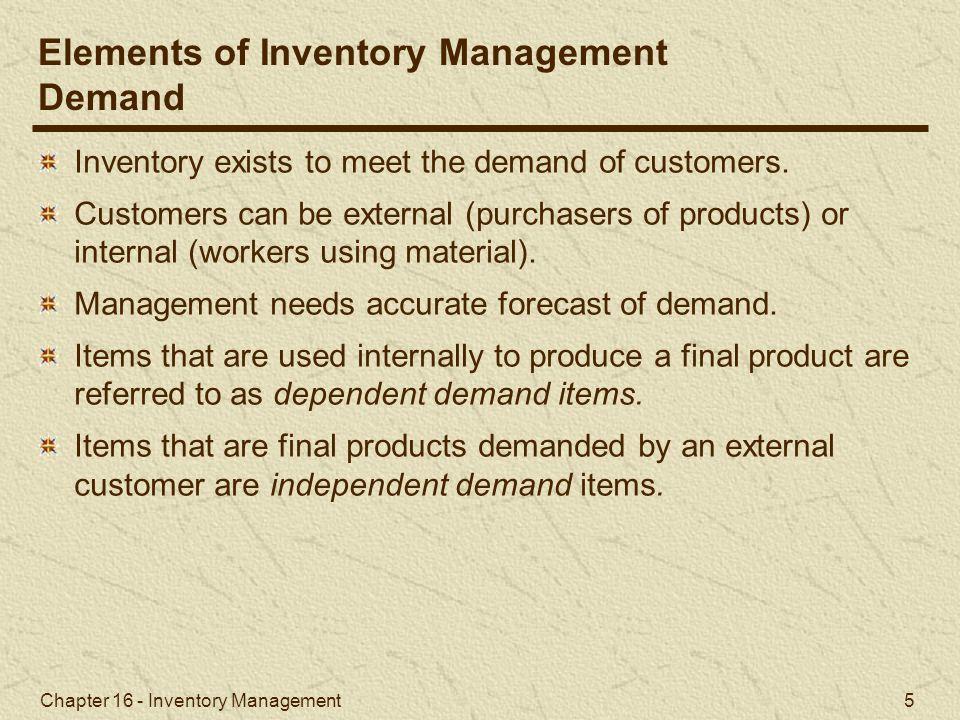 Chapter 16 - Inventory Management 56 I-75 Carpet Discount Store Super Shag carpet.