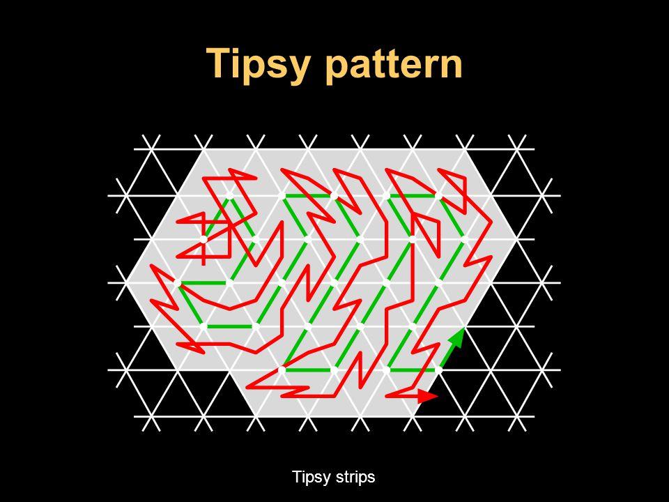 Tipsy pattern Tipsy strips