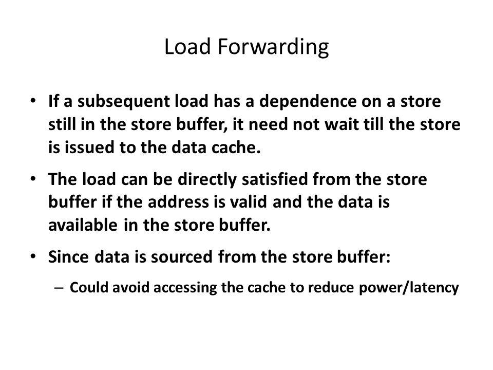 Illustration of Load Forwarding
